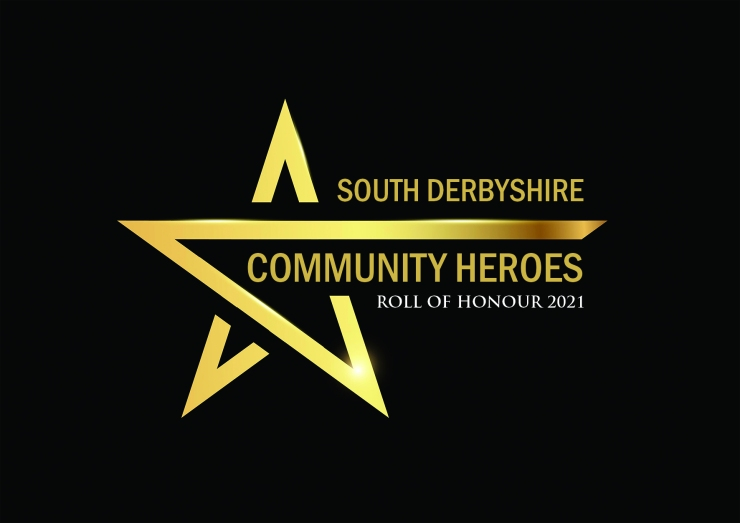 South Derbyshire Community Heroes Roll of Honour 2021 logo